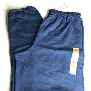 Hanes EcoSmart Mens Cinch Leg Sweatpants Navy Blue